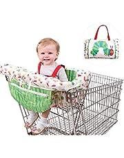 Seasaleshop kundvagnsskydd med rem, hygienskydd för kundvagnen, hållrem för optimal säkerhet för spädbarn eller småbarn universell passform.