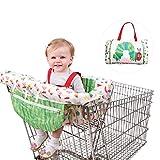 Seasaleshop Protección para el Carro de la Compra con Correa, protección higiénica para el niño, Correa de sujeción para una Seguridad óptima para bebés o niños pequeños Ajuste Universal.