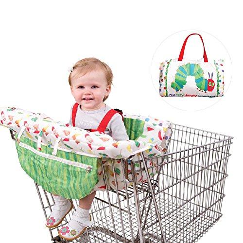 Seasaleshop Primlisa Einkaufswagenschutz Mit Gurt | Baby Einkaufswagen Abdeckung | Universelle Hochstuhl und Warenkorb Kissen | Schutzbezug Haltegurt Für Optimale Sicherheit Für Kleinkinder