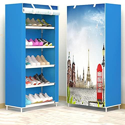 GYAM Gabinete de Zapatos de Tela, 8 Niveles de Zapatos 20 par de Zapatos Organizador de Almacenamiento 30x60x126 cm,B