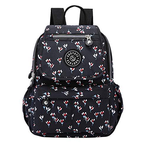 Zaino zaino resistente materiale di lusso borsa a tracolla da donna in tessuto Oxford borsa a tracolla borsa da studente25cm (L) x3cm (W) x34cm (H) /9.8 (L) x 1,2 (W) x13.4 (H)'