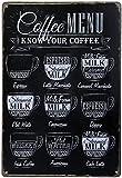 SHANGHh Retro Vintage Metal Cartel Cartel Publicidad para al aire libre se ajustan a la decoración de café Bar pared caracteres
