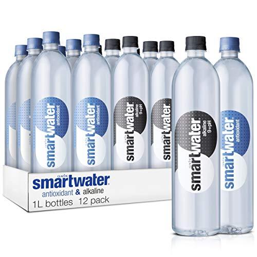 Smartwater Sparkling Smartwater Alkaline & Antioxidant Variety Pack, 1 Liter Bottles, 12 Pack,, 33.8 Fl Oz ()