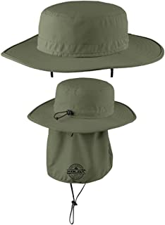 Koloa Surf Co. Wide-Brim Outdoor Hat with Sun Flap and UPF Protection