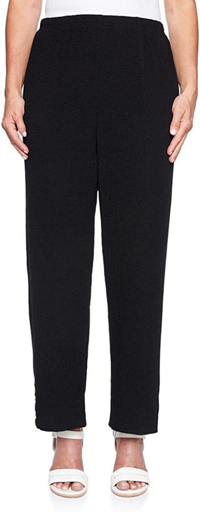 Alfred Dunner Women's Comfort Elastic Full Length Pant