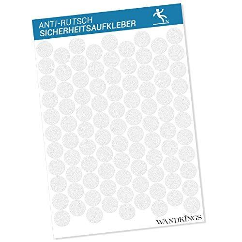 Wandkings Anti-Rutsch-Sticker 95 Stück Klebepunkte a 2,7 cm Durchmesser für Sicherheit in Badewanne und Dusche