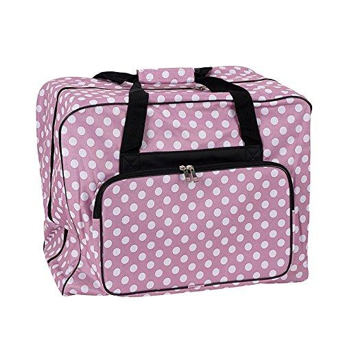 Nähmaschinen Tasche XL (rosa/weiß gepunktet)