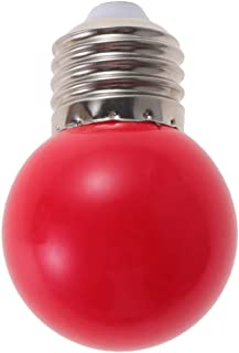 Mobestech 3W Red LED Light Bulb Mini Waterproof Colored Bulbs Festive Screw Bulb for Holiday Wedding Party Christmas New Year