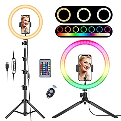 "12.6"" RGB Selfie Ring Light with Stand,Led ..."
