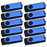 20 Piezas Pendrives 64MB Memoria USB 2.0, Azul Pequeña Capacidad Flash Drive 64 MB Externa Giratorio Pen Drive Buena Relación Calidad Memorias Stick by Kepmem para Transportar Pequeñas Informes