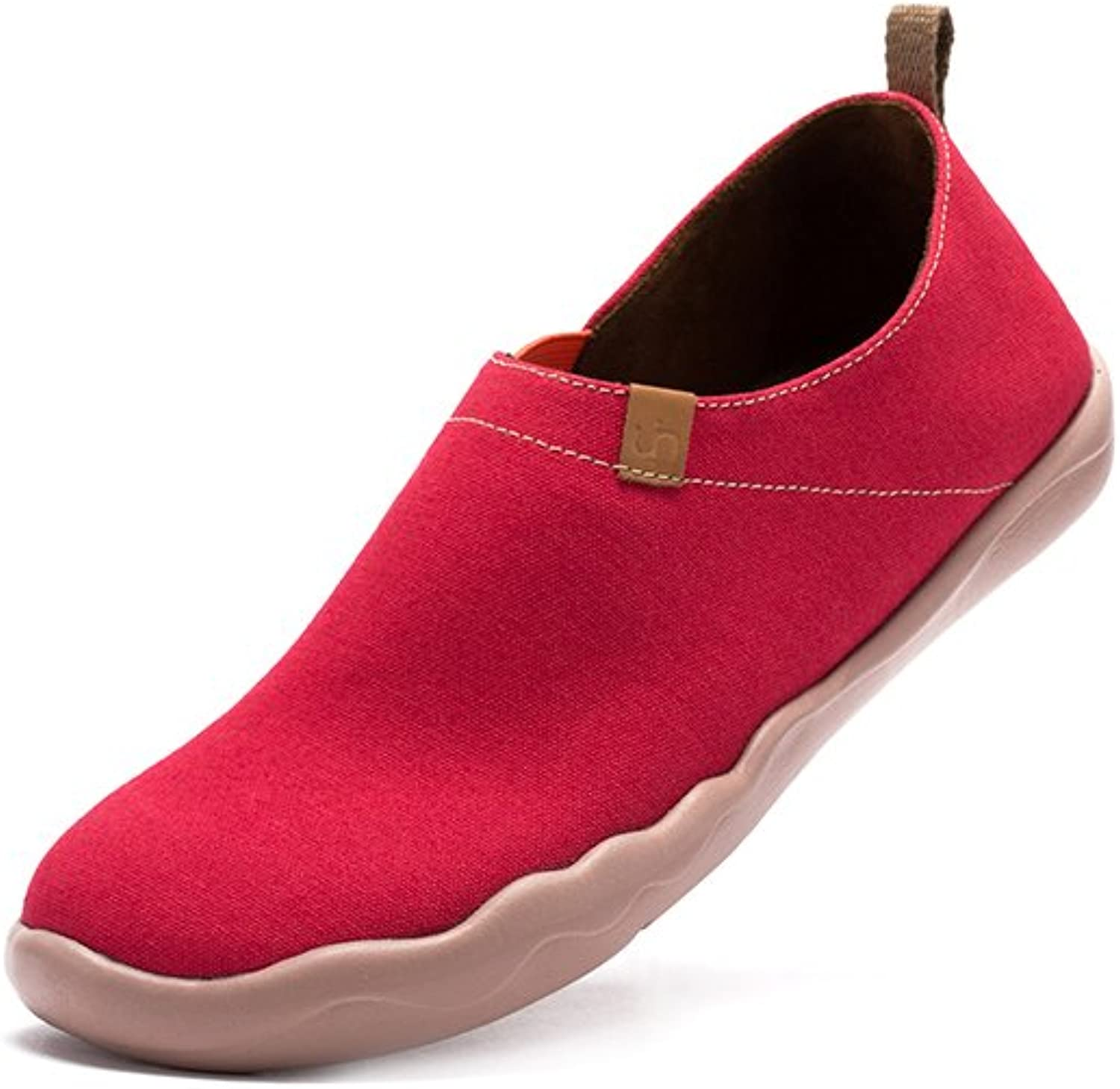 UIN Women's Coral Pure color Canvas Fashion shoes Red