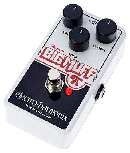 electro-harmonix NANOBIGMUFF - Pedal de distorsión para guitarra, color plateado