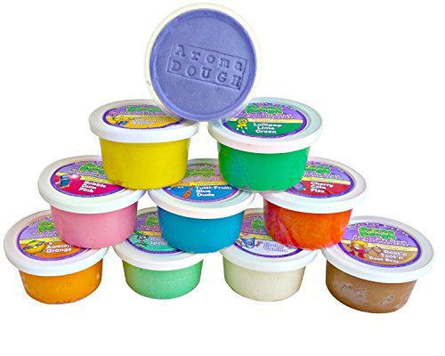Aroma Dough Aromatherapy Dough - Organic, Non-Toxic, Soy-Free, Gluten Free Play Dough for Kids - All Natural Aromas! - Sensory Playdough 10 Pack - Christmas Stocking Stuffers for Kids