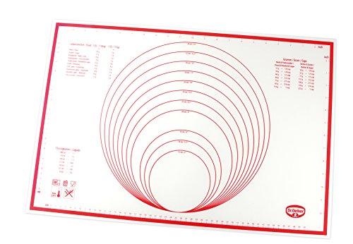 Dr. Oetker Backmatte Silikon, Backunterlage, multifunktionale Back-/Ausrollmatte, glasfaserverstärktes Platinsilikon, Menge: 1 Stück