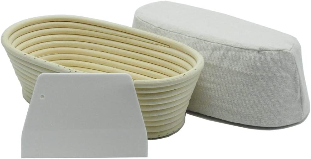 Bread Art Oval Proofing Basket with Max 79% Japan Maker New OFF Liner Plasti And Cloth