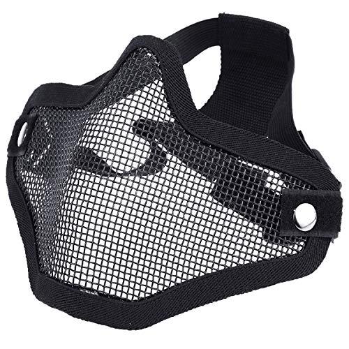 SIVENKE Airsoft Maske Taktische Gesichtsmaske Tactical Metal Mesh Maske Paintball Gesichtsschutz