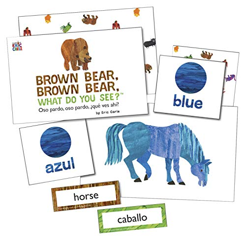 Brown Bear, Brown Bear, What Do You See? Learning Cards / Oso pardo. Oso pardo, Que ves ahi?