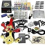 BTdahong Komplett Tattoo Kit 20 Farben Tätowierset 2 Tattoo Maschine Starter Set 50 Nadeln Griff...