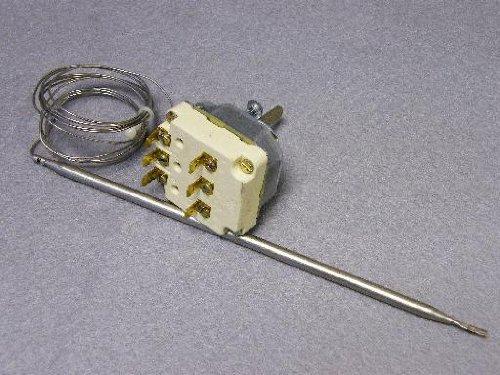 Thermostat: 55.34034.130 Moorwood Vulcan, Viscount, Friteuse Thermostat: dreipolig 130°C - 190c Sensor 6mm x 219mm Kapillare Länge 1480mm : Ego 55.34034.130 Moorwood Vulcan Viscount