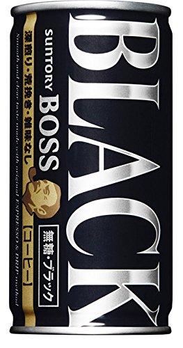 サントリー BOSS 無糖ブラック 185g × 3ケース(1ケース30缶入り)