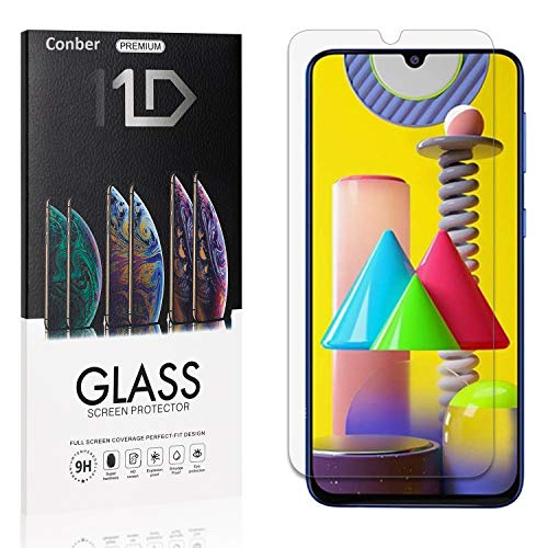 Conber (4 Pack) Screen Protector for Samsung Galaxy M31, [Scratch-Resistant][Anti-Shatter][Case Friendly] Premium Tempered Glass Screen Protector for Samsung Galaxy M31