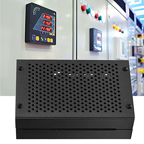 Carcasa protectora, kit de arranque eficaz con ventilador/sin ventilador (hecho de aleación de aluminio 9.5 x 6 x 3 cm (negro)