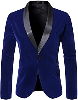Howely Men One Button Fashion Casual Plus-Size Tailored Fit Blazer Coat Tops