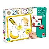 Goula 6 Puzzle de cartón para Aprender los Colores para niños a Partir de 2 años, Multicolor (53475)