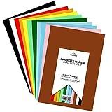 Tritart - Buntpapier A4 300g /m² I 55 Blatt festes Bastelpapier voll durchgefärbt I stabiler kreativ Tonkarton zum Basteln I Fotokarton 11 verschiedene Farben I DIY buntes Tonpapier I Bastelkarton