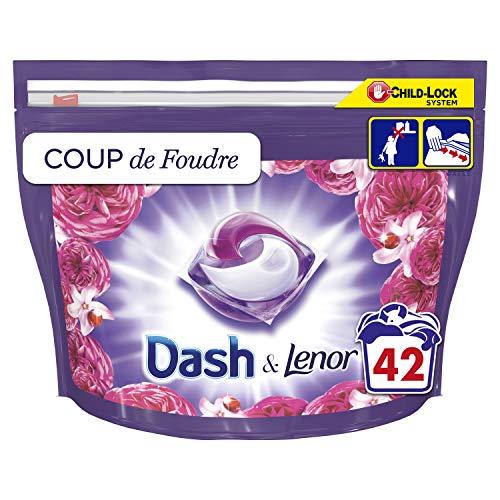 """Dash 3-in-1 Waschmittel in Flüssigkapseln, aus der Kollektion """"Coup de Blitz"""" mit einer langen Frische, 84 Waschgänge (2 x 42)"""