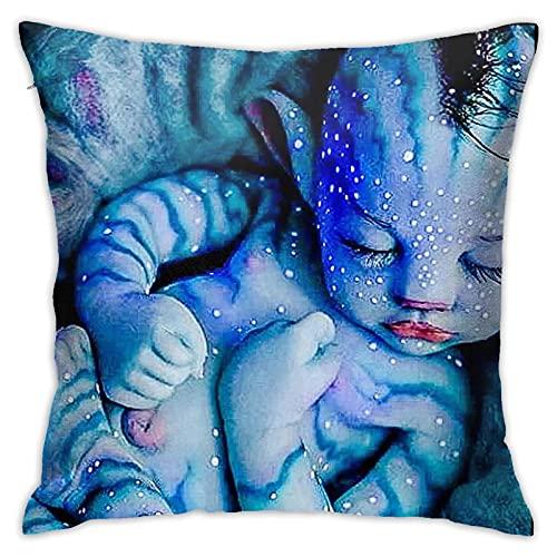 Dekeyue Fundas de Almohada Personalizadas compatibles con la decoración del hogar Avatar Poliéster Creepers Dormitorio Soft Baby Decorativo Cuadrado 45x45cm