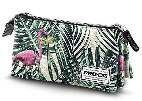 PRODG Flamingo Estuches, 24 cm, Verde