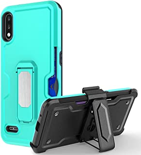 Hicaseer Case for LG K22,3 in 1 Shockproof and Drop-Proof Kickstand Magnetic Case Built-in Carryable Credit Card Cover for...