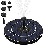 Fuente Solar Bomba,Bomba de Agua Solar para Fuente 2.5W Respaldo de batería incorporada,Flotante Energía Panel Jardín Solar Silicio Monocristalino Kit,para Fuente, Piscina, Jardín, Estanque