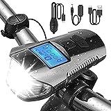 PTN Luces Bicicleta, Luces Bicicleta Delantera, Luz LED Bicicleta, Kit de Luces Delanteras y Traseras de Bicicleta con...