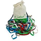 8-Natur Premium bandas elásticas para coser 1/4' set 5mm en 6 colores | Coser elástico 1/4' de la producción europea | Trenzado elástico 1/4'