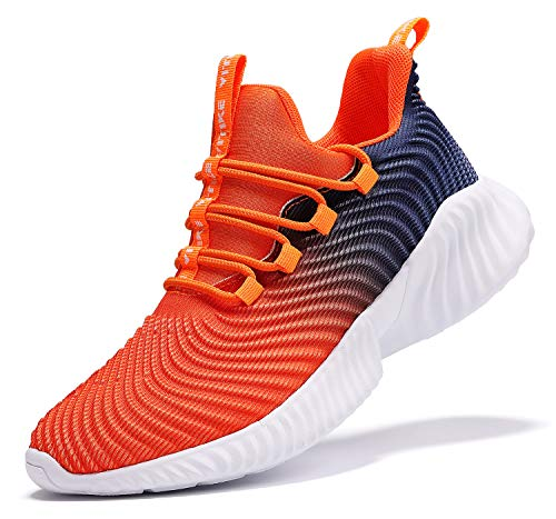 JMFCHI Kinder Turnschuhe Kinderschuhe Jungen Sneaker Mädchen Outdoor Sportschuhe Casual Damen Laufschuhe, 35 EU, Orange 8091
