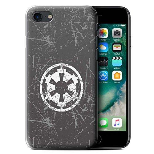 Hülle Für Apple iPhone 7 Galaktisches Symbol Kunst Galaktisches Imperium Inspiriert Design Transparent Dünn Weich Silikon Gel/TPU Schutz Handyhülle Case