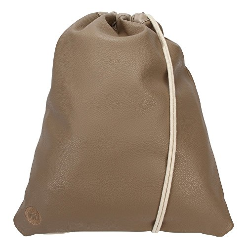 Mi-Pac Kit de Unisex Turnbeutel Bolsa Tumbled Mushroom Seta Marrón