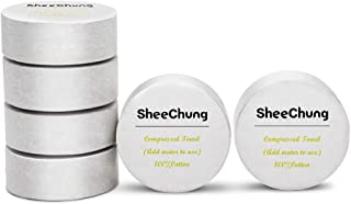 "SheeChung Cotton Compressed Towels Large -12""x28"" Reusable Pop-Up Towels for Camping,Travel,Sports,Home (6 Pack,6 Total Towels)"