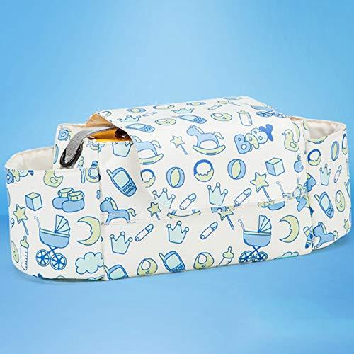 JJHG Bolsa de almacenamiento para cochecito de bebé, multifuncional, portátil, bolsa para colgar, soporte para botellas de cochecito, bolsa de almacenamiento colgante