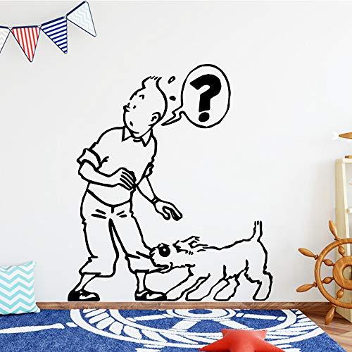 zqyjhkou Moderne Wandkunst Aufkleber Wandkunst Aufkleber Wandbilder Vinyl Aufkleber Schlafzimmer Kinderzimmer Dekor28x32cm