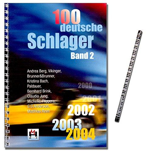 100 Deutsche Schlager, Band 2 - 2002 2003 2004 - Songbook mit Musikbleistift - Verlag Hildner 9783932839566
