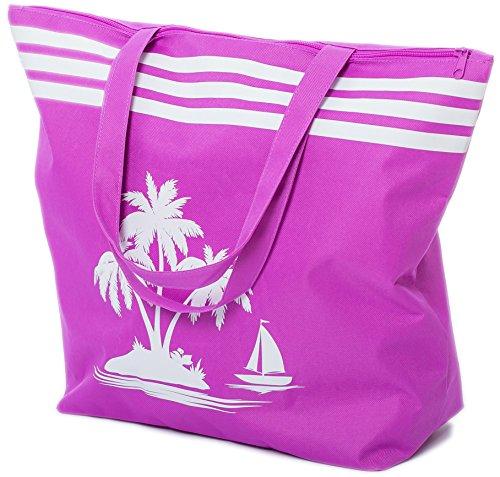 AIREE FAIREE Bolsa de Playa Bolso de Mano con Patron de Palmera