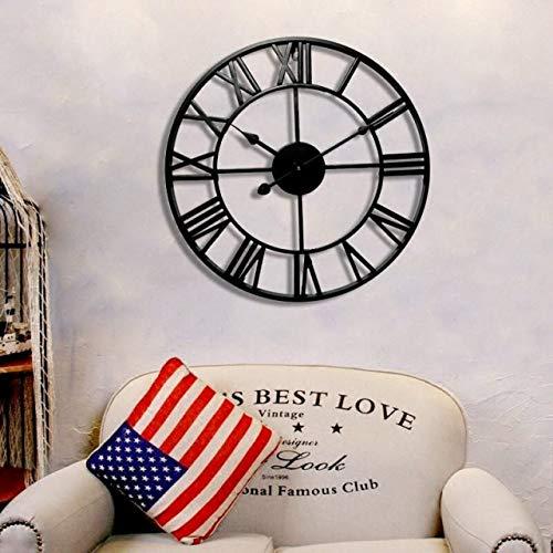 大きなアイアンフレーム アンティーク 雑貨 壁掛け時計 アイアン雑貨 男前インテリア 掛け時計 アンティークデザイン アメリカンクロック ウォールクロック インテリア