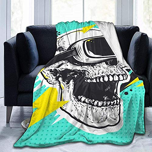 Nazi Mie Schädel Brille wirft Decke Super weiche Decke die ganze Saison für Sofa Couch Bett