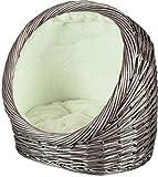 Trixie Refuge Panier en Osier pour Chat Gris 44 × 44 × 30 cm