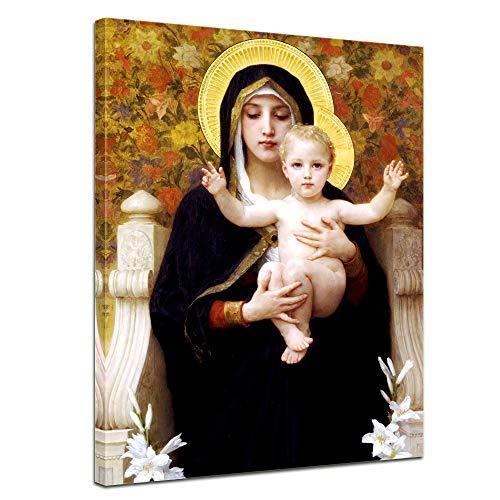 Bilderdepot24 Tela Immagine William-Adolphe Bouguereau - Madonna con Bambino 30x40cm - murale Antichi Maestri Foto su Tela Immagine su Tela pitture