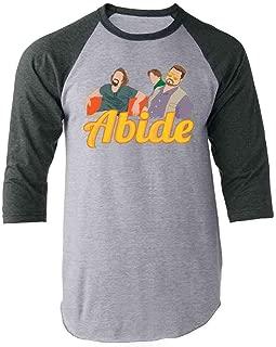The Dude Abides Minimalist Raglan Baseball Tee Shirt