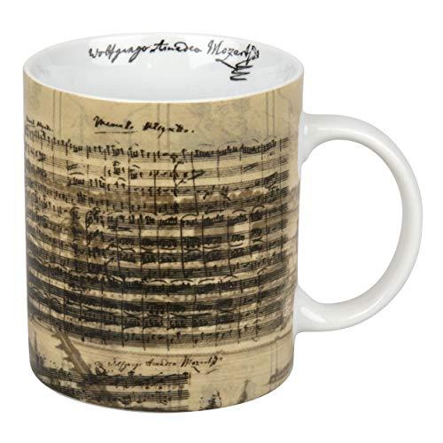 Könitz Facsimile Mozart Becher, Tasse, Kaffeetasse, Wolfgang Amadeus Mozart, Porzellan, 330 ml, 11 1 002 1216
